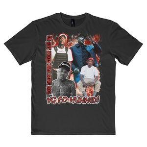 Vintage Style Black YG 4Hunnid Rap Tee